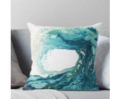 Ocean Wave Art Print Image - Turquoise Sea Surf Beach Decor Coussin