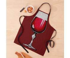 Verre de vin rouge Tablier