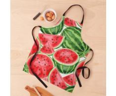 pastèque aquarelle rouge-pastèque Tablier