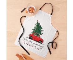 Sapin de Noël avec voiture Tablier