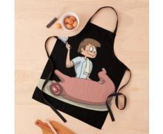 Couteau de boucher coupe la viande de porc Tablier