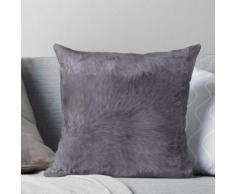Texture de peau de mouton gris | Duvet couvre-lit et coussin Coussin