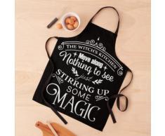 Citation drôle d'Halloween dans la cuisine des sorcières Tablier