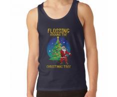 La soie dentaire autour du sapin de Noël T-shirt Santa Floss Tee Débardeur unisexe