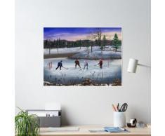 Hockey sur étang Poster