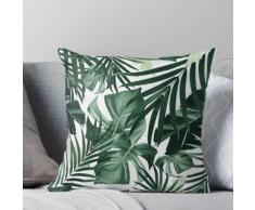Modèle de feuilles de jungle tropicale # 4 #tropical #decor #art Coussin