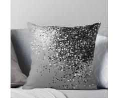 Sparkling Silver Grey Lady Glitter # 1 # brillant #décor #art Coussin