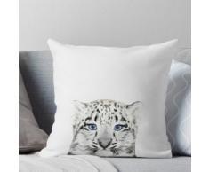 Bébé léopard, Léopard, Décor de chambre d'enfant, Animal, Chambre d'enfant, Art moderne Coussin