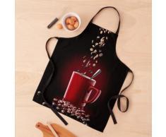 grains de café tombant dans une tasse de café Tablier