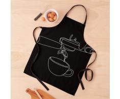 Impression de café. Affiche de café. Style scandinave. machine à café barista Tablier