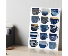 Tasses à café Pretty Blue Impression rigide