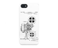 Brevet Du Projecteur De T Lindenberg Jr (Version Noire) Coque rigide pour iPhone SE (2016)/5s/5
