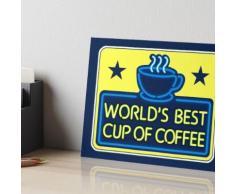 """""""Meilleure tasse de café du monde"""" - vu sur """"Elf"""" Impression rigide"""