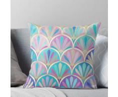 Glamorous Twenties Art Déco Pastel Pattern Coussin