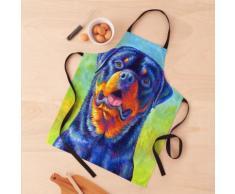 Gentle Guardian - Chien Rottweiler arc-en-ciel coloré Tablier