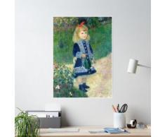 Pierre Auguste Renoir Fille avec l'arrosoir impressionniste Poster