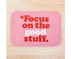 Focus sur les bonnes choses {Version rose et rouge} Tapis de bain