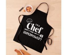 Je suis un chef, quelle est votre superpuissance, cadeau de cuisine Tablier