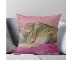 Splendide Lakshmi sur son oreiller de soie Coussin