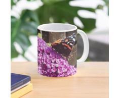 arbuste à papillons et papillon en été Mug
