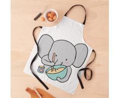 Cuisine d'éléphant mignon, cuisine d'éléphant mère Tablier