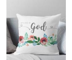 Je suis un enfant de Dieu aquarelle fleurs LDS Mormon Christian Art graphique Design Coussin