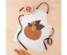 Jardinière d'automne avec composition florale Tablier