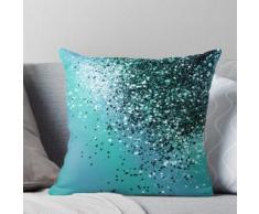 Aqua Bleu OCEAN Glitter # 1 #shiny #decor #art Coussin