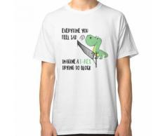 «À chaque fois que vous vous sentez triste, imaginez un T-rex qui tente de bloque T-shirt classique