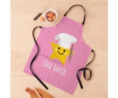 Cute Star Baker avec rouleau à pâtisserie - Rose Tablier