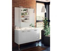 Meuble sous vasque NEOVA ANGELO blanc brillant 3 portes