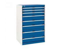 bott 1 armoire d'atelier à tiroirs bott sl-86 - hauteur 120 cm