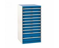 bott 1 armoire d'atelier à tiroirs bott sl-66 - hauteur 120 cm