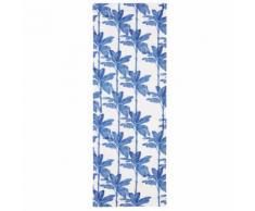 Toile de transat imprimé floral blanc et bleu compatible avec chilienne PANAMA