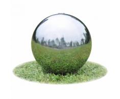 vidaXL Sphère de fontaine de jardin avec LED Acier inoxydable 40 cm