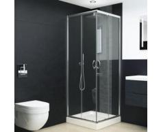 vidaXL Cabine de douche Verre de sécurité 70x70x185 cm