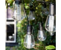 Luxform Guirlande lumineuse sur batterie 10 LED Alicante Transparent