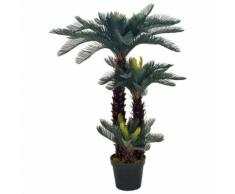 vidaXL Plante artificielle avec pot Palmier Cycas Vert 125 cm