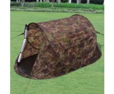 vidaXL Tente pour 2 personnes Camouflage