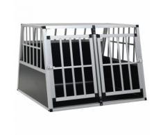 vidaXL Cage pour chien à double porte 94 x 88 x 69 cm