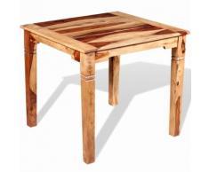 vidaXL Table de salle à manger Bois massif de Sesham 82 x 80 x 76 cm