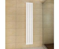 vidaXL Porte-serviette 311mm + Radiateur panneau blanc 311mm x 1800mm