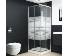 vidaXL Cabine de douche Verre de sécurité 90x80x180 cm