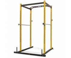 vidaXL Portant de musculation fitness 140 x 145 x 214 cm jaune et noir