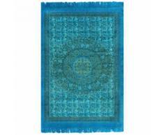 vidaXL Tapis Kilim Coton 120 x 180 cm avec motif Turquoise