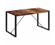 vidaXL Table de salle à manger 140x70x75cm Bois de récupération massif