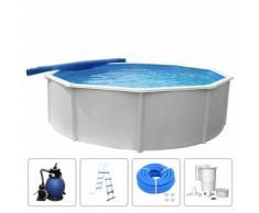 KWAD Ensemble de piscine Steely Deluxe Ronde 4,6x1,2 m