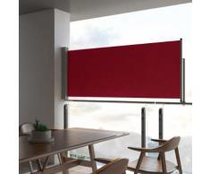 vidaXL Auvent latéral rétractable de patio 100x300 cm Rouge