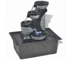 vidaXL Fontaine d'intérieur avec lampe LED Polyrésine
