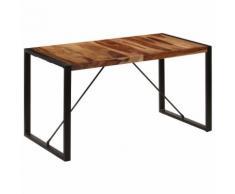 vidaXL Table de salle à manger 140x70x75 cm Bois de Sesham massif